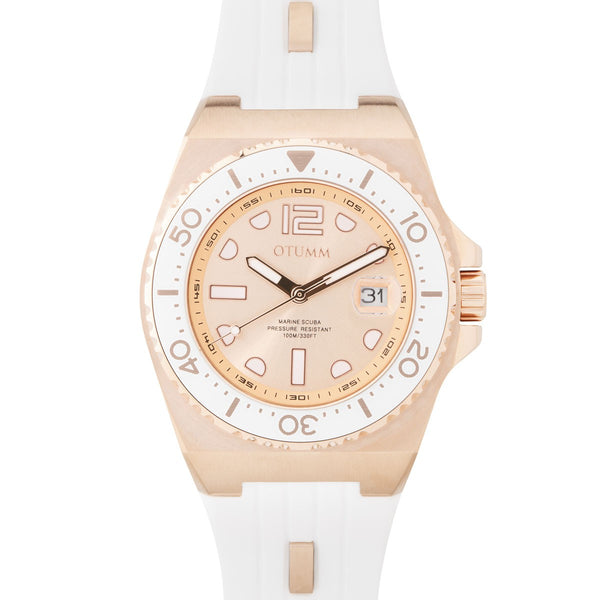 Sea Breeze Rose Gold White Strap 40mm