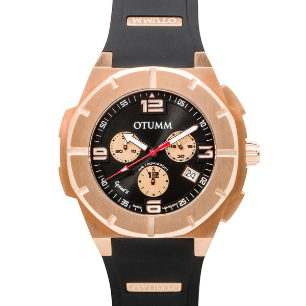 Speed II Rose Gold 002 Black 45mm