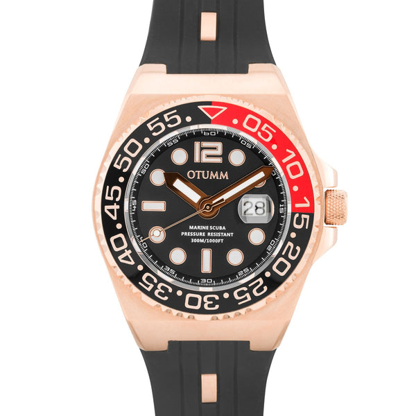 Scuba Rose Gold Black 45mm/52mm