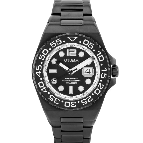Scuba Calender Steel Black 45mm