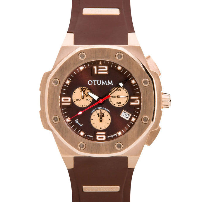 Speed Rose Gold 004 Chocolate 45mm