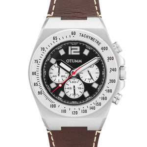 Athletics Chrono Leather Steel Brown 45mm