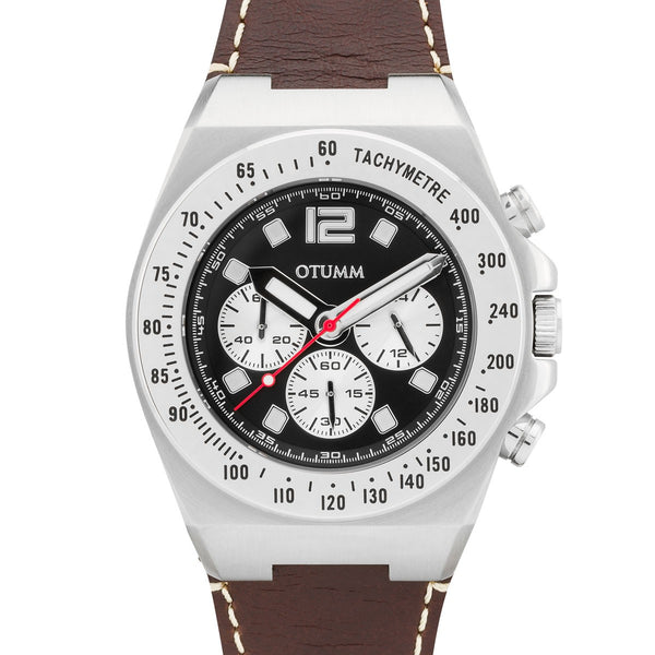 Athletics Chrono Leather Steel Case 45mm