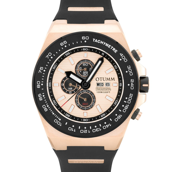 Day Date Rose Gold 01 Black Bezel 52mm