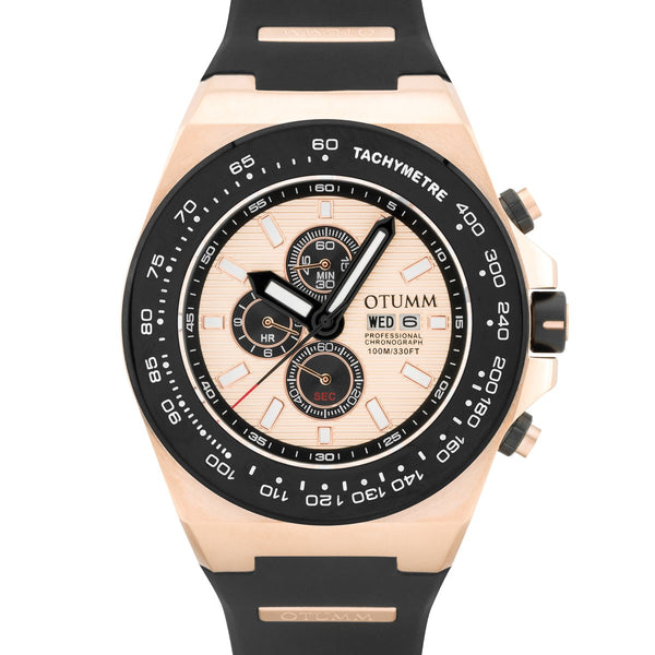 Day Date Rose Gold Black 52mm