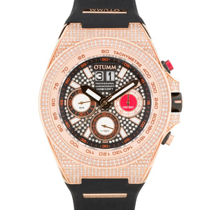 SG Full Diamond Big Date Rose Gold 52mm Black
