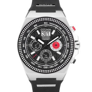 SG Bezel Diamond Big Date Steel 52mm Black