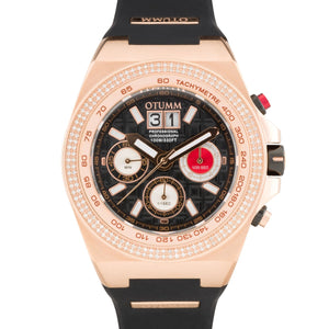 SG Bezel Diamond Big Date Rose Gold 52mm Black