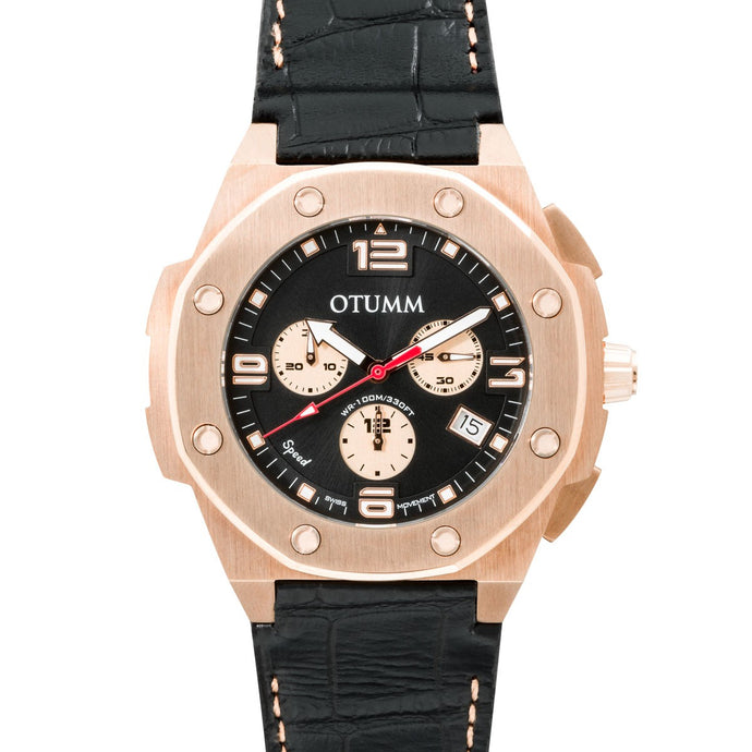 Speed Leather Rose Gold 002