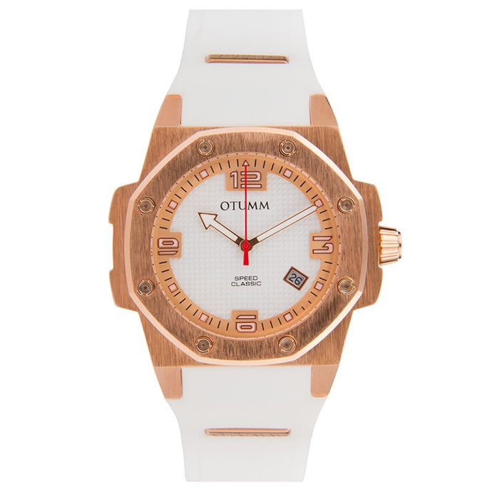 Classic Speed 41mm Rose Gold White