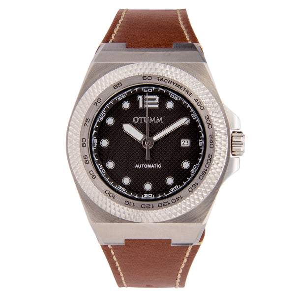Automatic Calender Steel  Leather 45mm