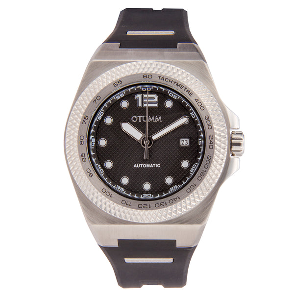 Automatic Calender Steel Case Black 45mm