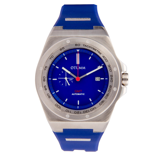 Automatic Calender Steel Case Blue 45mm