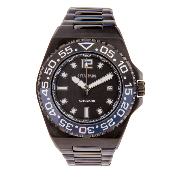 Automatic Calender Black Steel Strap 45mm