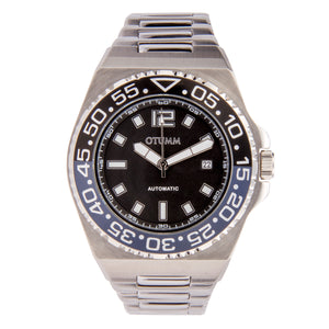 Automatic Metal Steel Strap Black Dial 45mm