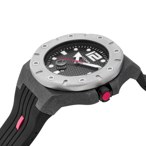 Carbon Fiber Black Red Hand 52mm