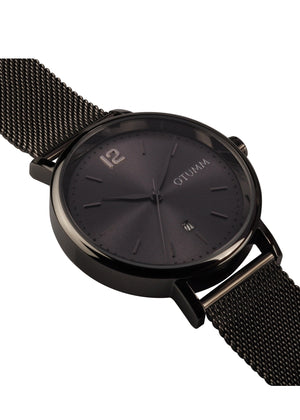 Mesh Man Black Calendar 43mm