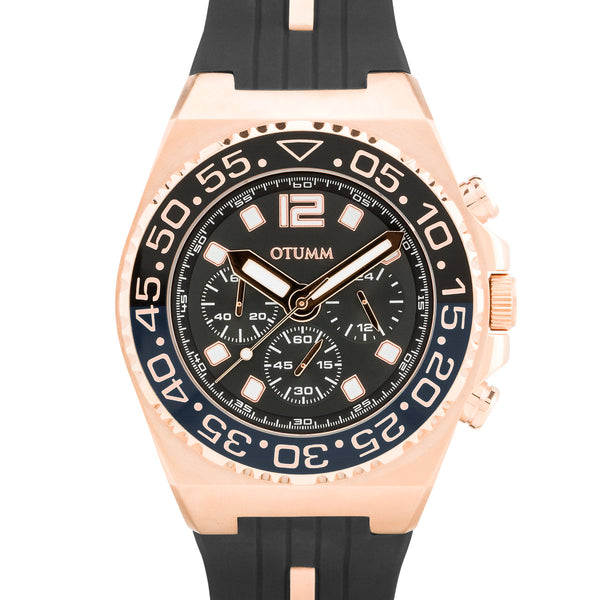 Athletics II Rose Gold Black Chrono 45mm