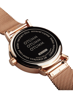 Mesh Rose Gold Calendar 43mm