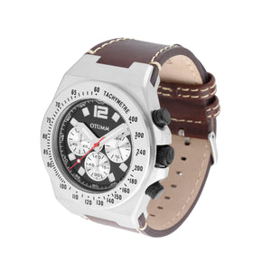 Athletics Chrono Leather Steel 45mm