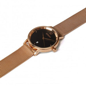 Mesh Gold Black Dial 36mm