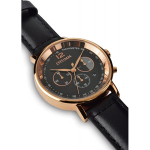 Leather Gold Black Strap