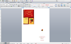 Screenshot of Microsoft Word Holiday Card Template
