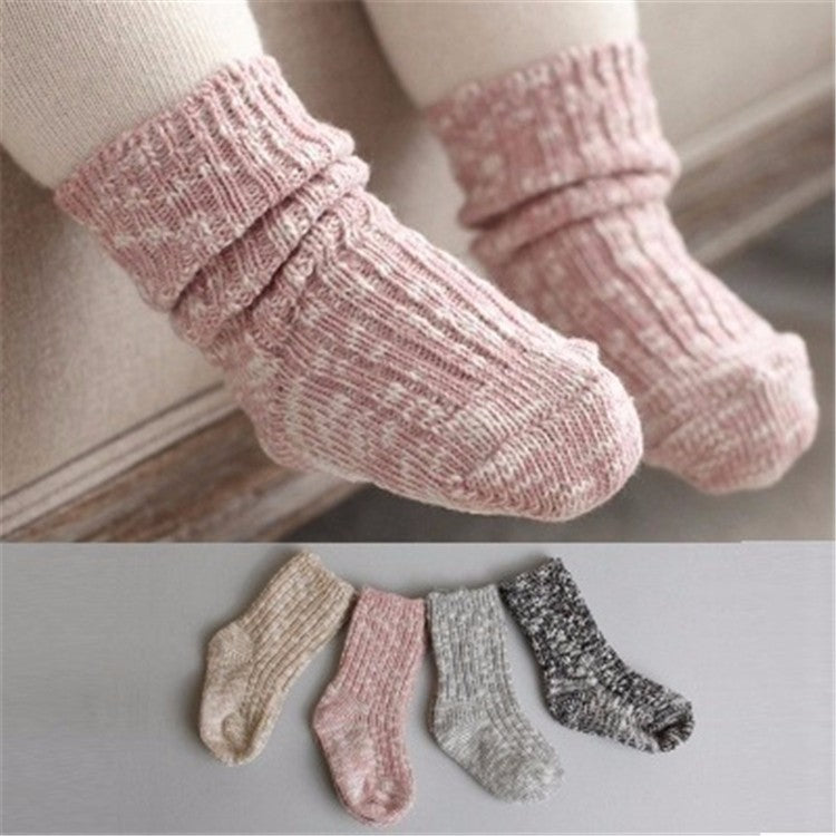 Chunky Knit Marbled Socks Lily And Loom