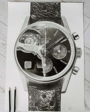 "Load image into Gallery viewer, ""Carrera Vintage Chronograph & 250GT Interior"" — Horological Art Print by Artist Tamás Fehér"
