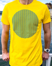 "Load image into Gallery viewer, ""Tribute To The Wave Dial"" Print T-Shirt In Yellow — Horological Apparel"