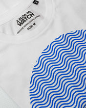 "Load image into Gallery viewer, ""Tribute To The Wave Dial"" Print T-Shirt In White — Horological Apparel"