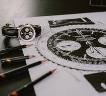 "Load image into Gallery viewer, ""Navitimer"" Watch Drawing — Horological Art Print by Artist Tamás Fehér"