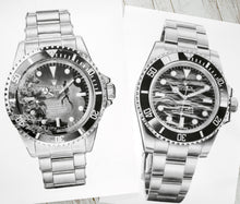 "Load image into Gallery viewer, ""Submariner Ref. 5512"" Vintage Dive Watch Drawing — Horological Art Print by Artist Tamás Fehér"