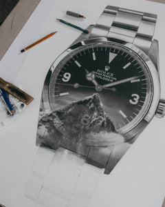 """Tribute To The Explorer"" Watch Drawing — Horological Art Print by Artist Tamás Fehér"