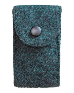 "Watch Carry Pouch In ""Crown Green"" Harris Tweed by Holland & Sherry"