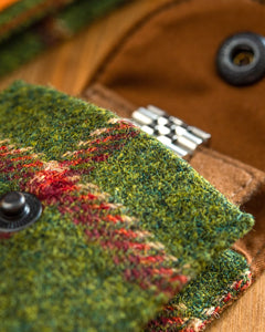 "Watch Carry Pouch In ""Window Pane"" Sherry Tweed by Holland & Sherry"