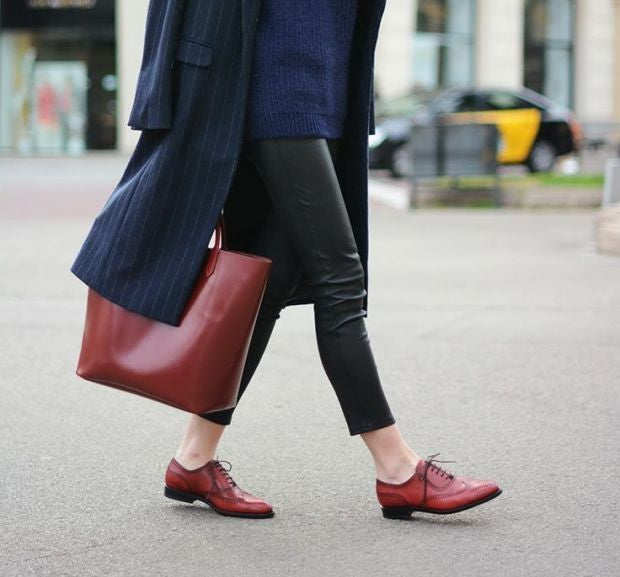 Do you need to have matching shoes and bags? They don't need to match exactly, but…