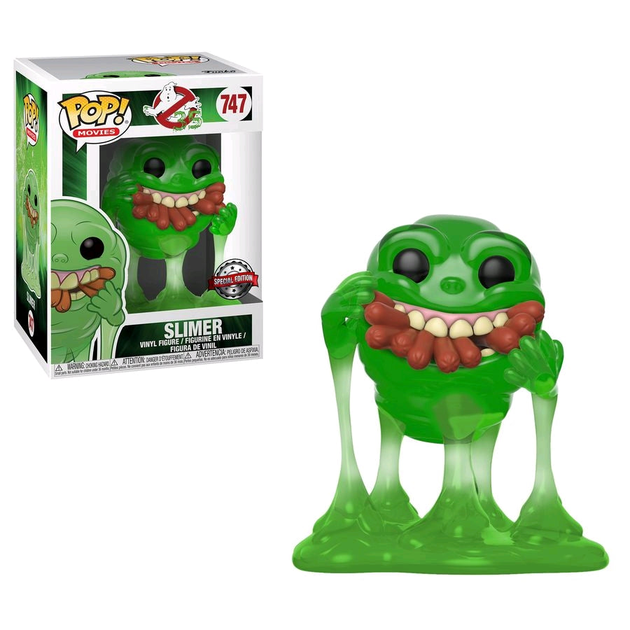 Ghostbusters - Slimer with Hot Dogs Translucent US Exclusive Pop! Vinyl #747