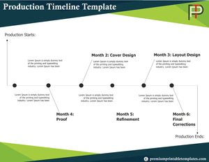 production timeline templates premiumprintabletemplates