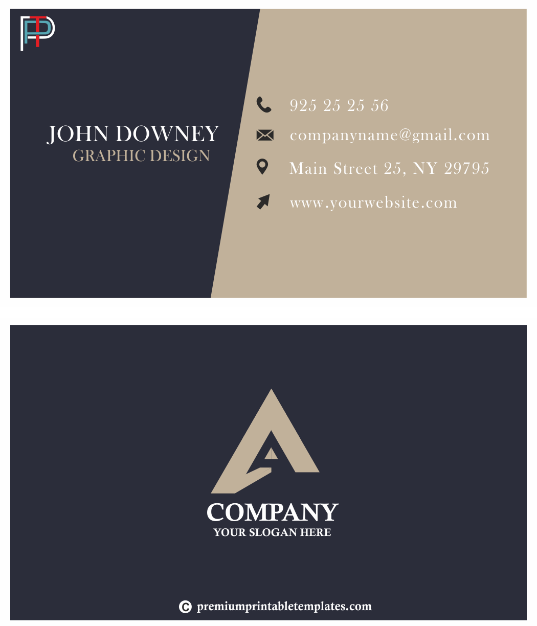 Business Card (Dark Blue)