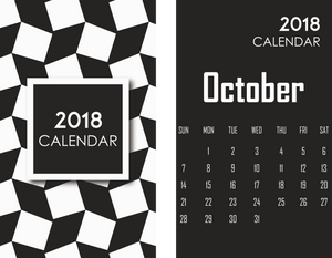 October Black theme template