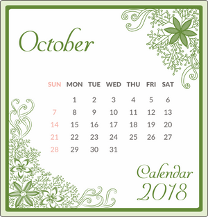 October 2018 green theme
