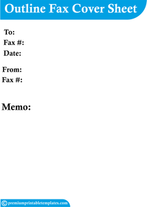outline fax cover sheet