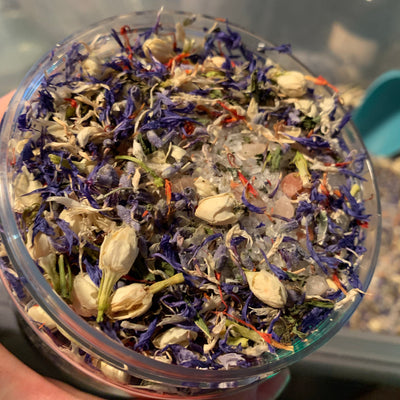 Herbal Salt Infusion Bath Tea - Jasmine & Lavender