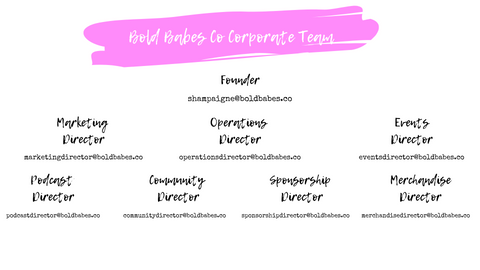 Bold Babes Co Corporate Team Structure