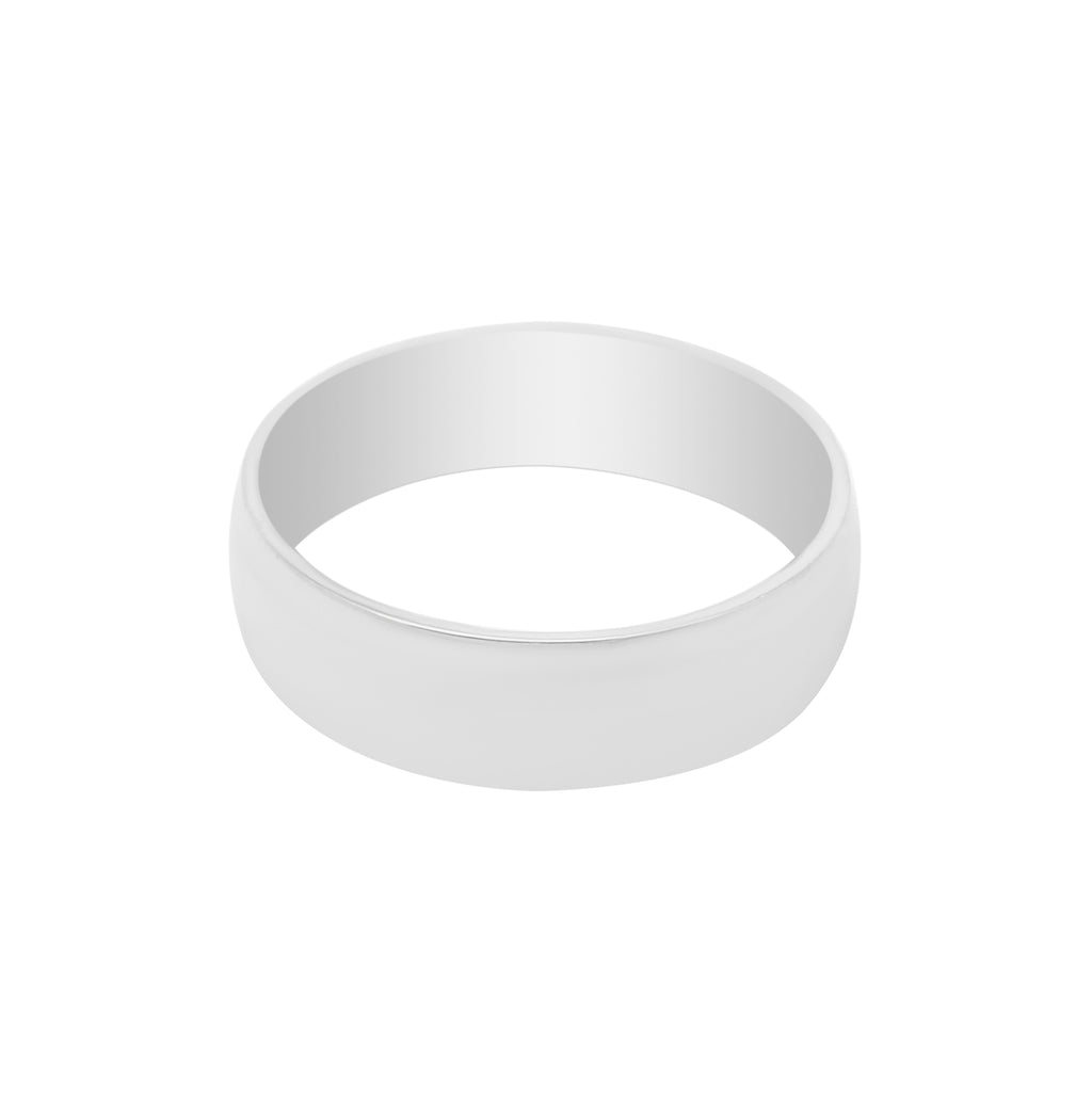 STAINLESS STEEL BAND RING - SILVER