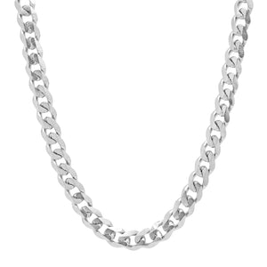 SILVER CHAIN NECKLACE - 9mm