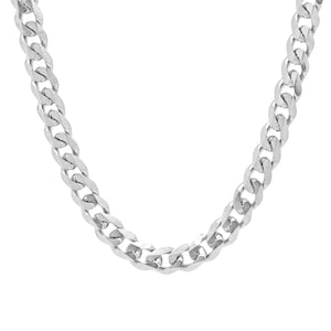 SILVER CHAIN NECKLACE - 7mm