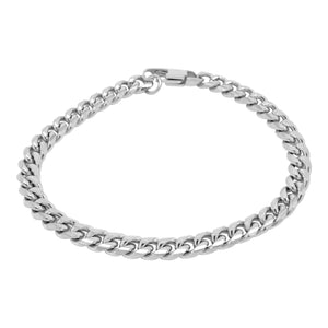 STAINLESS STEEL SILVER CHAIN BRACELET