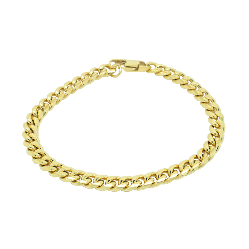 5MM CHAIN BRACELET - GOLD